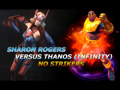 T2 Sharon Rogers vs Thanos (Infinity) (NO STRIKERS 1:50) [Marvel: Future Fight]