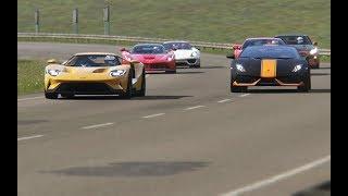 Battle Ford GT vs Super Cars at Highlands