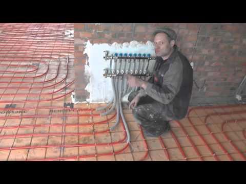 Как заправить теплый пол водой