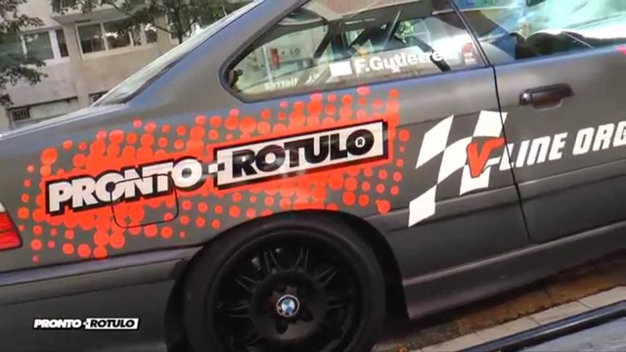 Back To The Future Increible Bmw M3 V Line En Gris Mate We Are Back By Pronto Rotulo Since 1993