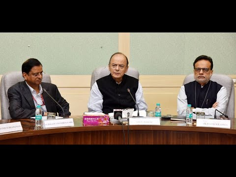 Finance Minister Arun Jaitley addresses media on India's sovereign credit ratings by Moody's