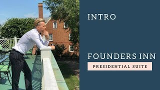 Jesse Meester introduction and stay at Founders Inn Presidential Suite
