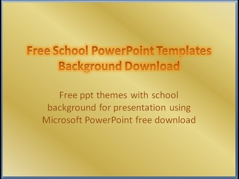 Free School PowerPoint Templates Download Background Presentation