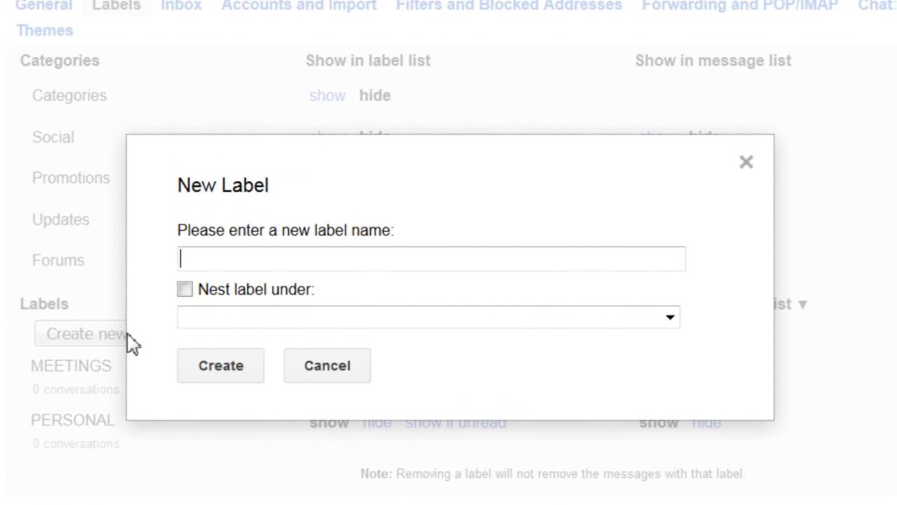 GMAIL: Create folder labels within your mailbox - YouTube