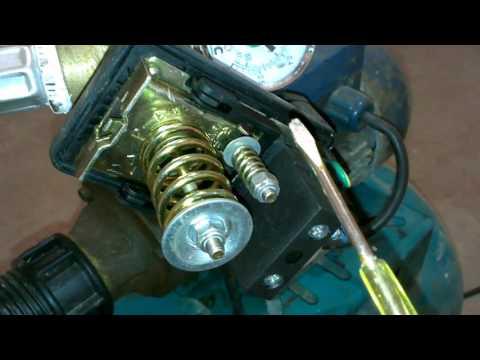 Как отрегулировать датчик давления на насосной станции видео
