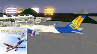FIRST   Aqua Airways - Boeing 757   ROBLOX