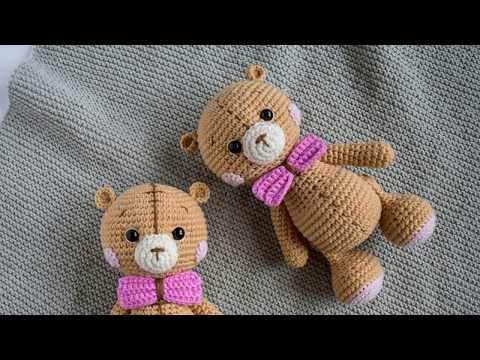 Kids toys Maya - handmade softie n cuddle crochet amigurumi bear ... | 360x480