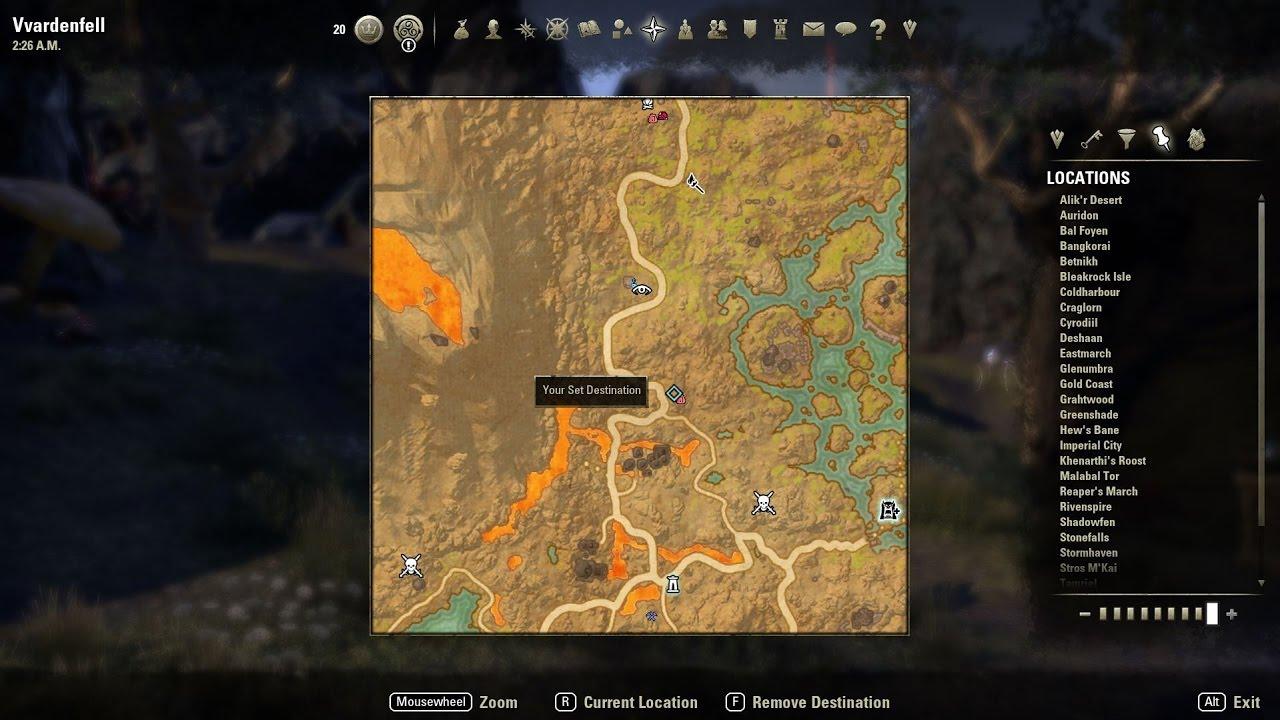 Vvardenfell CE Treasure Map 1 location - YouTube on