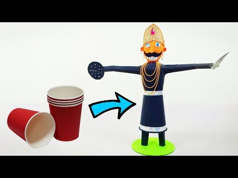 How to Make Ravana | Paper Cup Craft | Crafts Junction