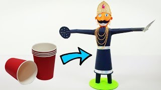 How to Make Ravana   Paper Cup Craft   Crafts Junction