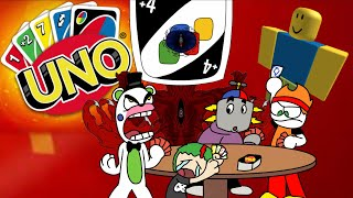 PLAYING UNO (except it's in roblox cause we're too lazy to get the steam version)