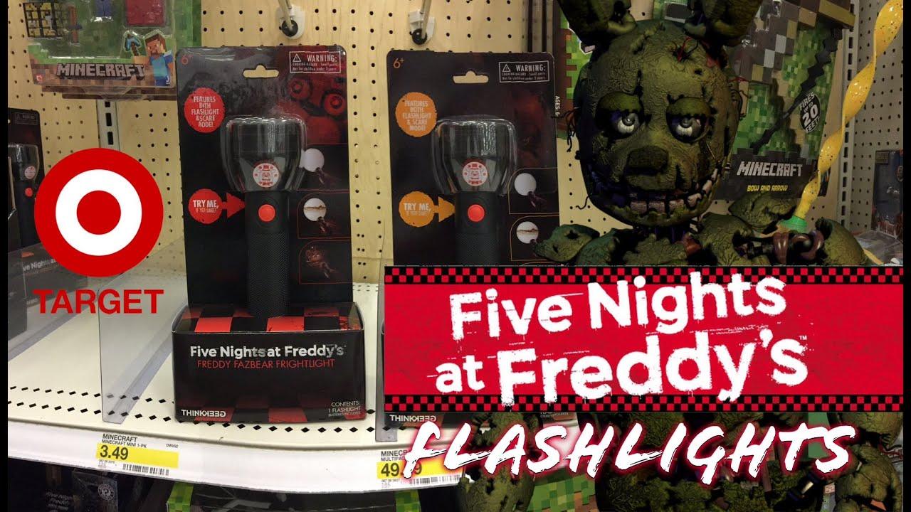 Five Nights At Freddy S Frightlight Flashlights Youtube