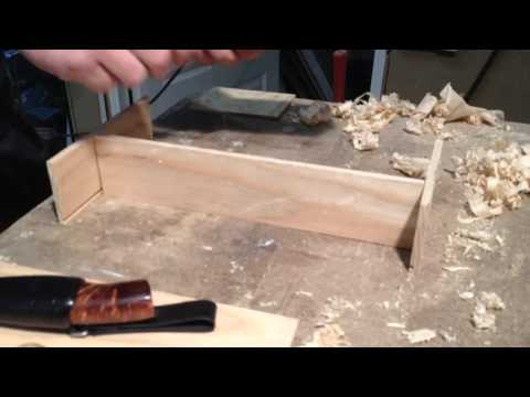 Making a wooden giftbox for handmade knife.