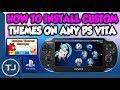 Install Custom Themes On PS Vita 3.65/3.68 (Custom Themes Manager)
