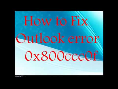 outlook express error 0x800ccc0f