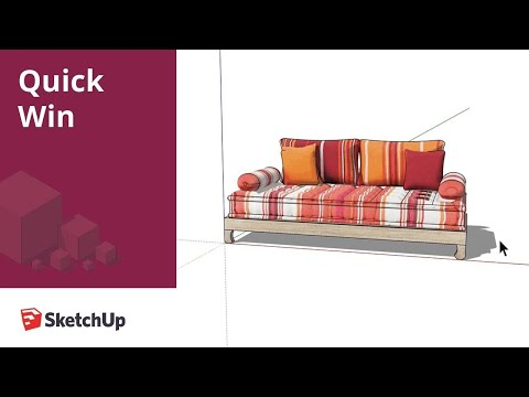 How to change the material in your SketchUp model - Quick Win