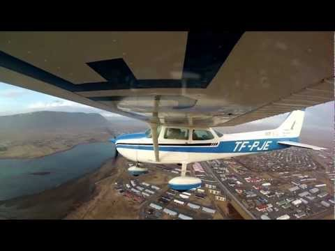 Sightseeing flight over Selfoss Iceland
