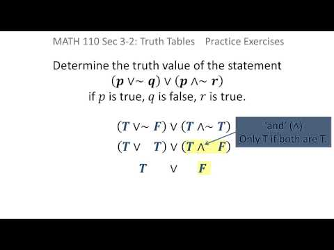 Logic: Determine truth value of a statement