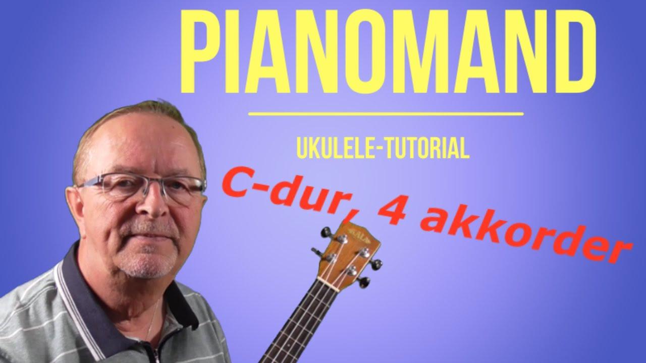 Pianomand. Kim Larsen cover. Tutorial. Lær at spille ukulele.