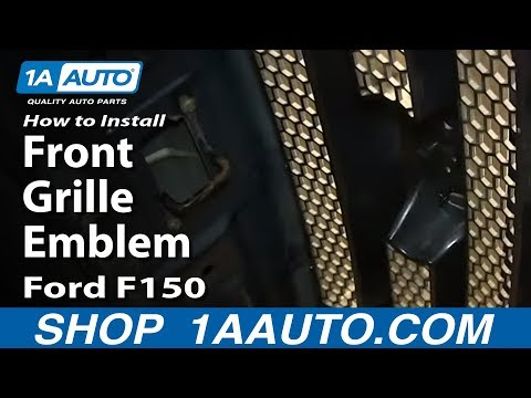 How To Replace Front Grille Emblem 04-09 Ford F150
