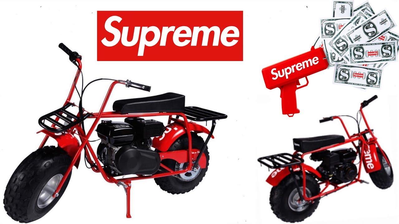 $1000 Supreme X Coleman Mini Bike ! - YouTube