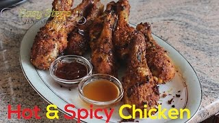 FAST RECIPE How To Cook Oven Roasted Hot & Spicy Chicken Drumsticks  Juicy Tender Chicken