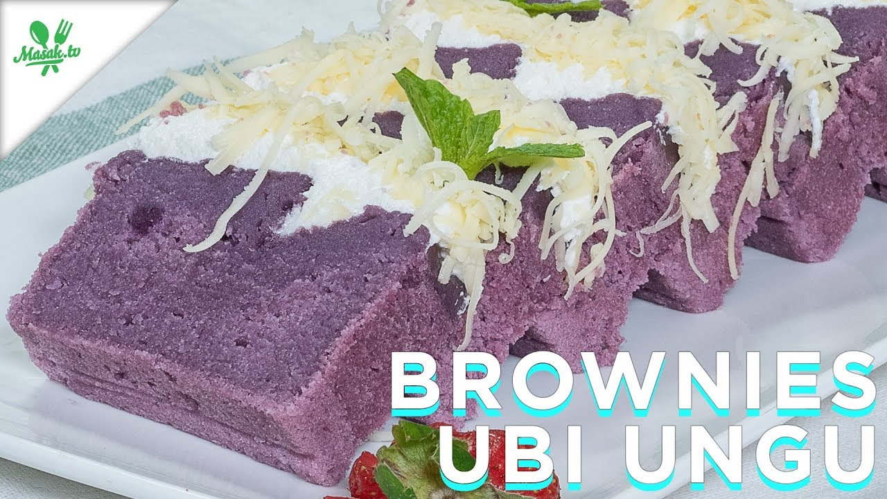 Steamed Purple Yam Brownies Recipe