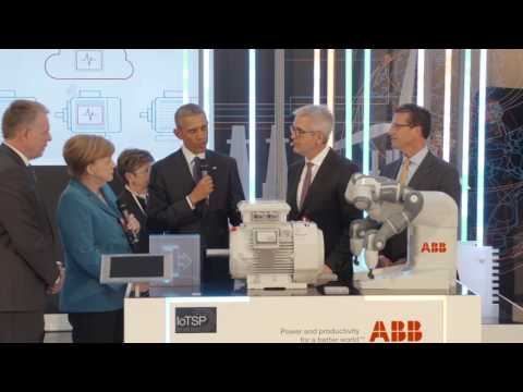 President Obama and Chancellor Merkel impressed by ABB tech at Hanover Fair