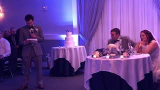 Andy's Best Man speech at Taylor and AJs Wedding