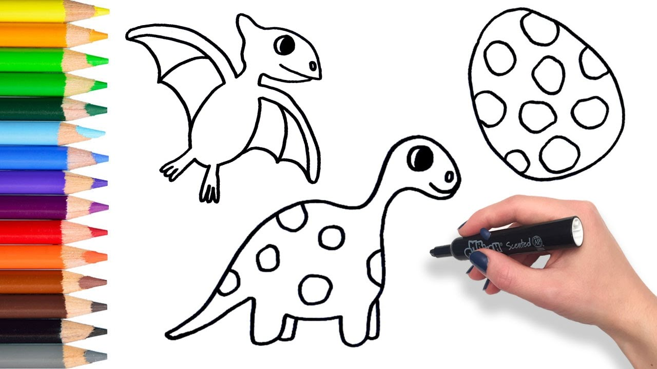 Learn To Draw Dinosaurs Compilation Teach Drawing For Kids And