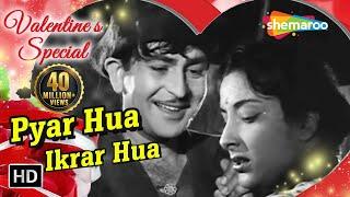 Download Pyar Hua Ikraar Hua | Raj Kapoor & Nargis | Shree 420 | Bollywood Evergreen Songs | Manna Dey & Lata Mp3 and Videos