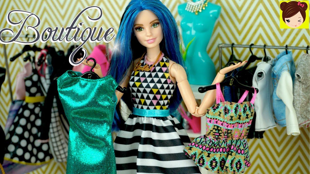 Vistiendo a Barbie en La Boutique con Nueva Ropa - Frozen Elsa y ...