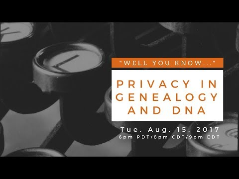 "BlackProGen LIVE:! Ep 40: ""Well You Know..."" Privacy in Genealogy and DNA"