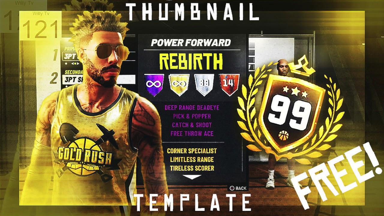 FREE GFX: Photoshop Thumbnail Template: NBA 2K19 Style