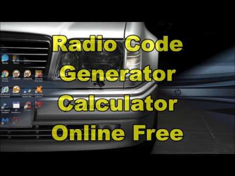 Radio Code Free | Calculator Generator Online Free | Radio Code Kostenlos Gratis