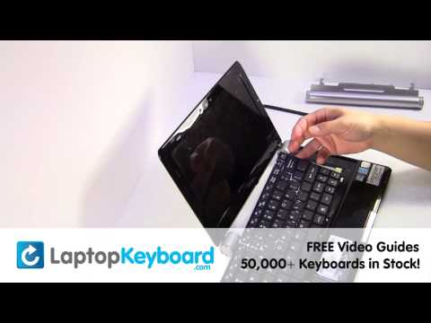 MSI Wind Netbook Keyboard Installation Replacement Guide - Laptop Remove Replace Install