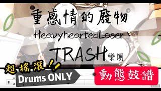 鼓譜 Drum cover【重感情的廢物】Trash樂團 Drum Scores 動態鼓譜 Drums only