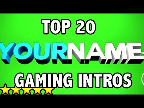 (BEST) Top 20 FREE 3D GAMING Intro Templates - AFTER EFFECTS, SONY VEGAS, CINEMA 4D