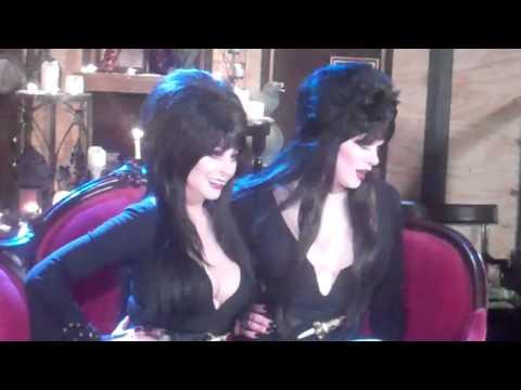 Elvira's Movie Macabre (BTS) Elvira and her 'Evil Twin'
