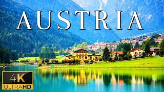 FLYING OVER AUSTRIA (4K UHD)  Relaxing Music With Stunning Beautiful Nature (4K Video Ultra HD)