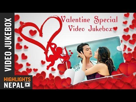 Valentines Special Video Jukebox   Top 5 Romantic Movie Songs   Highlights Nepal