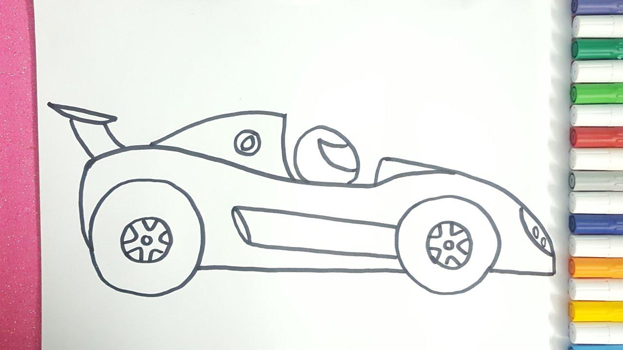 تعلم طريقة رسم سيارة سباق رسم سيارة سباق خطوة بخطوة Youtube