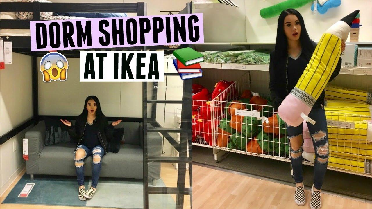 dorm shopping at ikea vlog megan mauk youtube. Black Bedroom Furniture Sets. Home Design Ideas