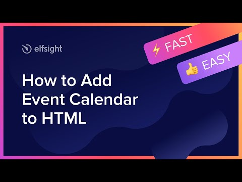 How To Add Event Calendar To HTML (2020)