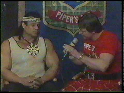 WWF 1984: Jimmy Snuka's first appearance on Piper's Pit
