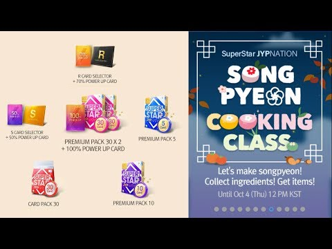 Crafting ALL Songpyeon Cooking Class Event Rewards + Premium Card Pack Opening   Superstar JYP