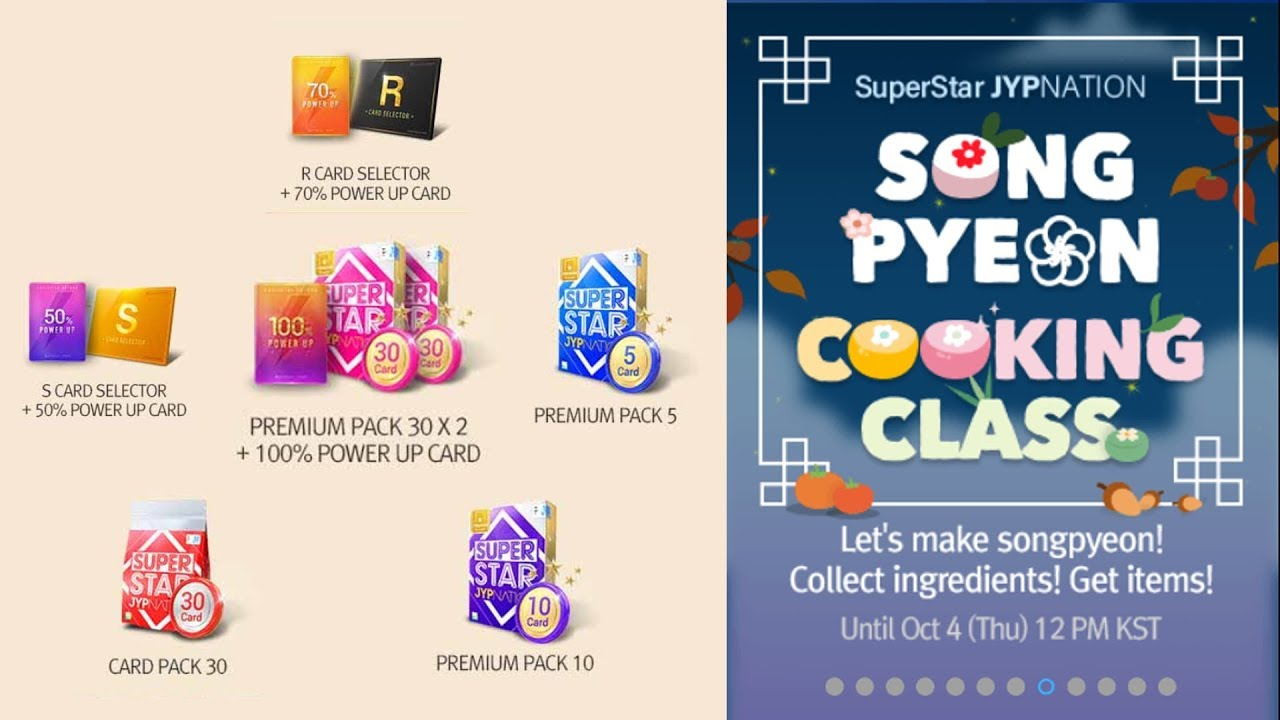 Crafting ALL Songpyeon Cooking Class Event Rewards + Premium Card Pack  Opening | Superstar JYP