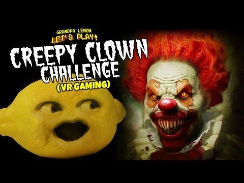 Grandpa Lemon Plays - Creepy Clown Challenge (VR Game) |