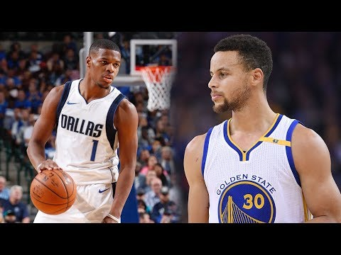Dennis Smith Jr VS Steph Curry PG BATTLE!! Warriors vs Mavericks!