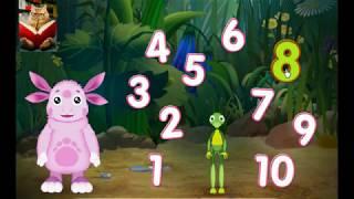 Изучаем цифры видео для детей. Лунтик учит цифры игра